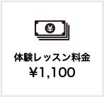 体験レッスン料金1,100円
